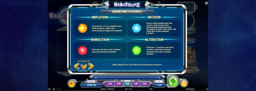 Reactoonz - features