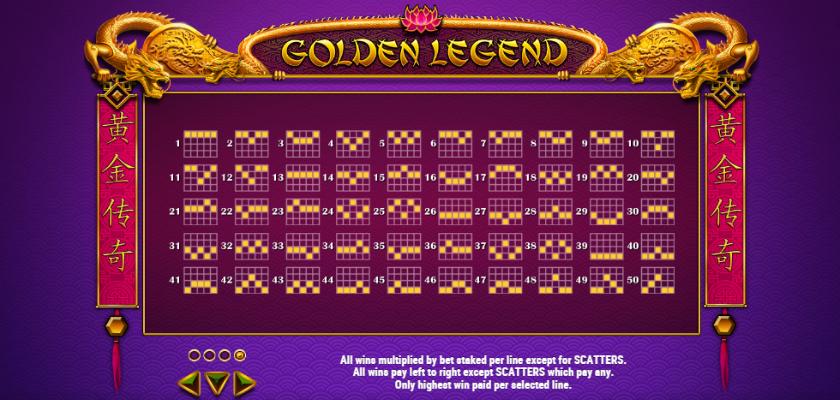 Golden Legend - paylines