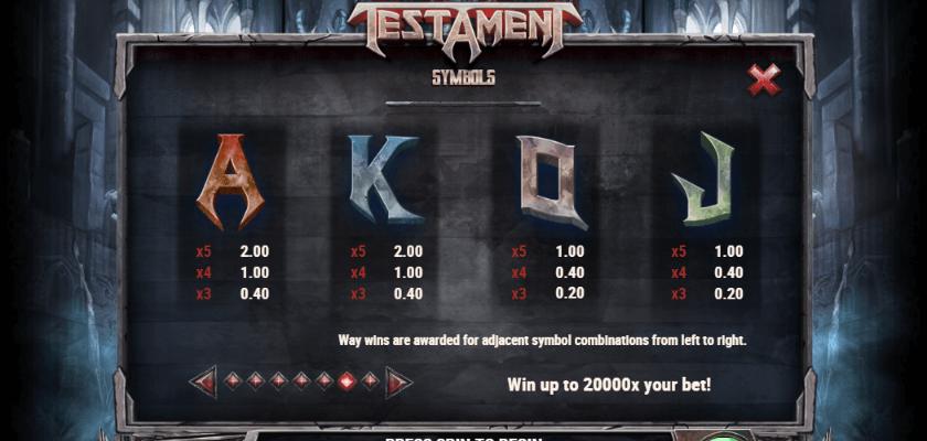 Testament - symbols