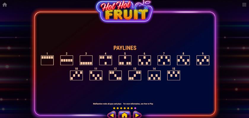 Hot Hot Fruit - paylines